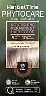 8A Пепельно-русый Стойкая питательная краска для волос Herbal Time PHYTOCARE, фото 1