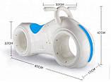 Детский Беговел Tron Bike с Led подсветкой Bluetooth и Динамиками Толокар Бело-Синий, фото 4