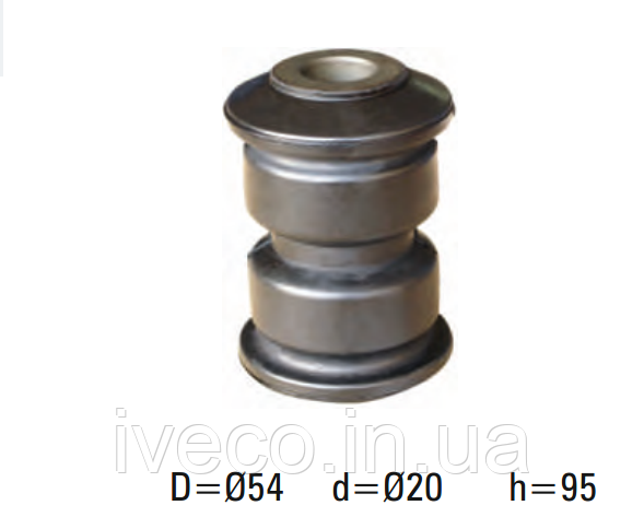 Втулка рессорная резина-металл R.V.I. Midliner, Midlum, 5000448405, d20xd54x95