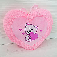 М'яка іграшка/подушка в 5-и моделях. Сердечко рожеве. 35 см.