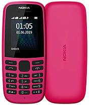 Мобильный телефон Nokia 105 TA-1174 DS Pink 2019 Гарантия 12 месяцев, фото 2