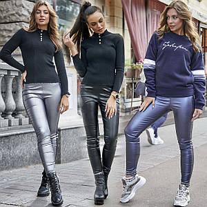 Стильные кожаные лосины с лампасами /разные цвета, S-XL, SEV-1231.3735/