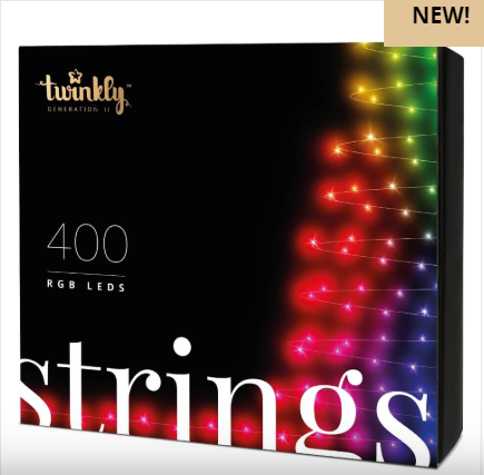 Smart - гирлянда TWINKLY Strings 400 LEDs Multicolor