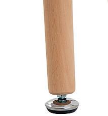 Стіл Ксав'єр D=800 (ноги дерево) (Білий), фото 3
