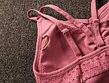 Спортивний костюм жіночий безшовний компресійний для фітнесу. Комплект лосини і топ, розмір M (чорний), фото 9