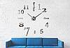 """Настенные часы 3D Большие """"Seven"""" - часы наклейка с зеркальным эффектом, необычные настенные часы стикеры, фото 4"""