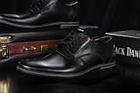 Мужские туфли кожаные весна/осень черные Vankristi 343, фото 5