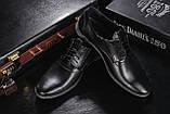 Мужские туфли кожаные весна/осень черные Vankristi 343, фото 6