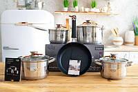 Набор посуды Krauff 8 предметов, в подарок Подарок Сковородка Krauff Profi 24см SKL42-229236