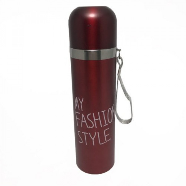 Стальной термос для холодных и горячих напитков My Fashion style New 480 мл Red