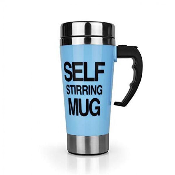 Кружка-мешалка Self Stirring Mug Высокая Автоматическая 350 мл Blue (ХL1236)