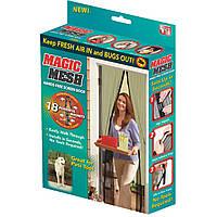 Москитная сетка на двери Umbrella Magic Mesh Бежевая на магнитах (ST-23319652)