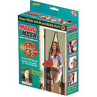 Москитная сетка на двери Umbrella Magic Mesh Коричневая на магнитах (ST-732913186)