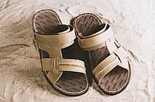 Чоловічі сандалі шкіряні літні оливкові Bonis Original 25