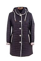 Женская весенняя куртка  большого размера   52-54 синий