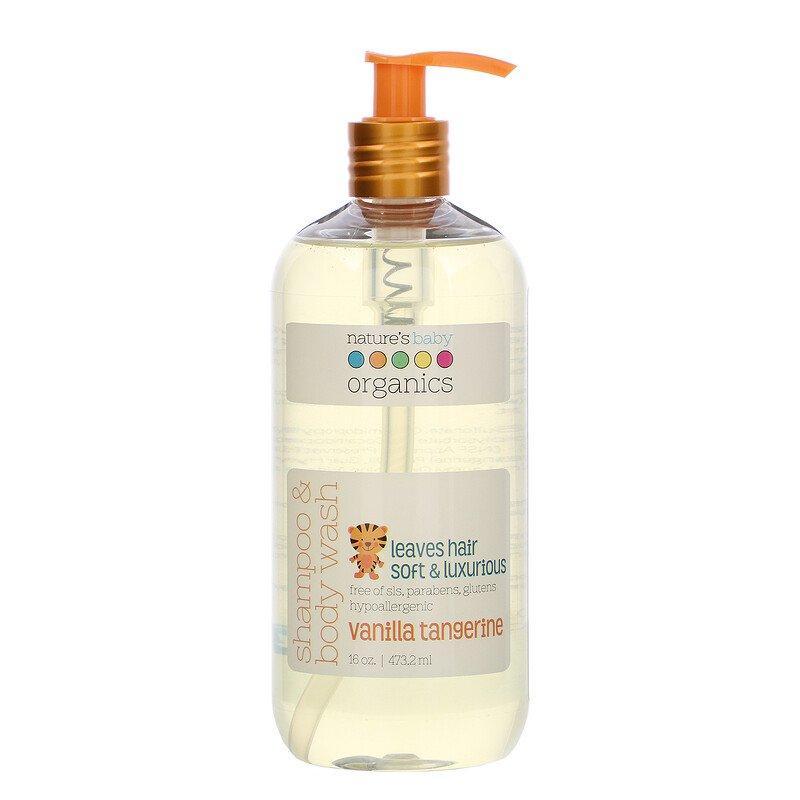 "Дитячий шампунь-гель nature's Baby Organics ""Shampoo & Body Wash"" з ваніллю і мандарином (473.2 мл)"