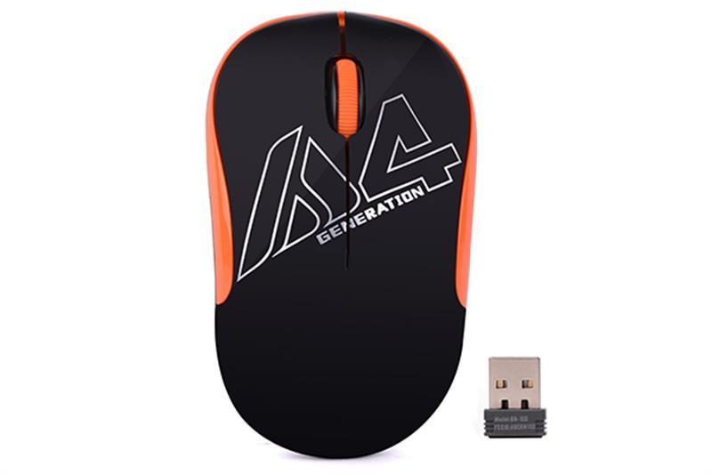 Мышь беспроводная A4Tech G3-300N Black/Orange USB V-Track