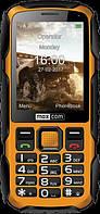 Кнопочный телефон для активного отдыха водонепроницаемый Maxcom MM920 черно-желтый