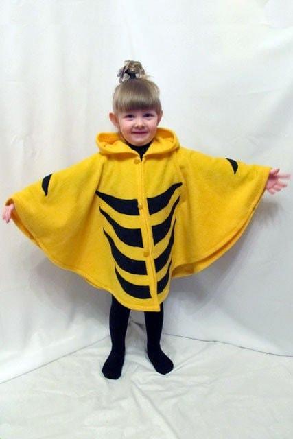 """Пончо жовто-чорне """"Бджілка"""". АКЦІЯ -25% до 03.04.20"""