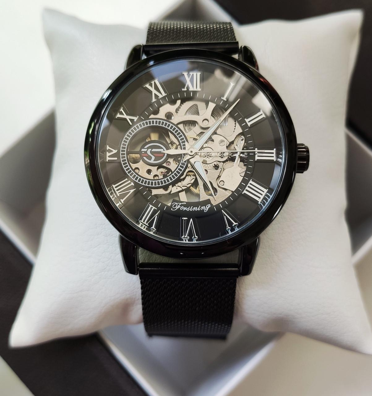 Механические часы Forsining Rich (black)