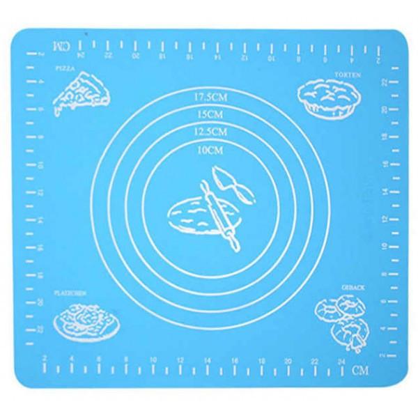 Силиконовый коврик для раскатки теста А-Плюс 29x26 см Голубой (ST-742147214)
