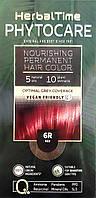 6R Красный Стойкая питательная краска для волос Herbal Time PHYTOCARE