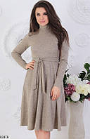 Красивое теплое платье, 3 расцветки, размеры 42-46