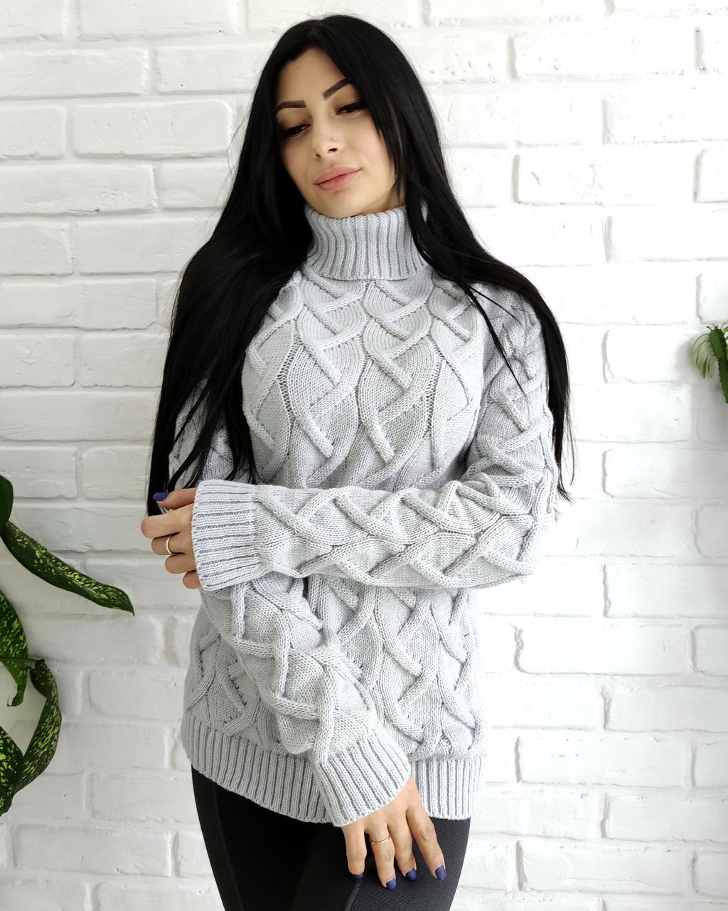 Теплий светр-гольф 44-50