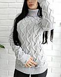 Теплий светр-гольф 44-50, фото 3
