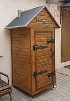 Коптильня 550 л для холодного и горячего копчения c просушкой, нержавейка внутри, домиком