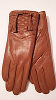 Женские кожаные перчатки Superios рыжие