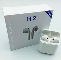 Сенсорные беспроводные наушники Bluetooth i12 TWS наушники блютуз
