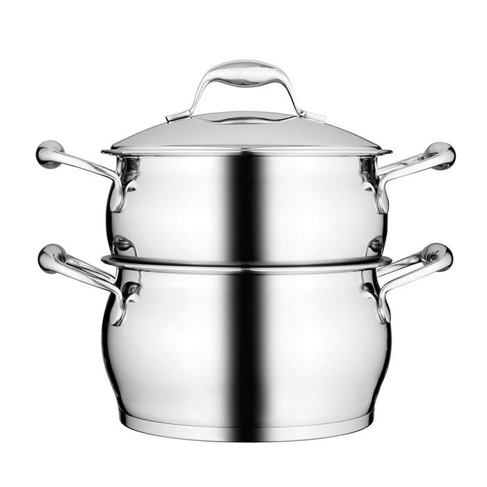 Кастрюля BERGHOFF Essentials с пароваркой, диам. 20 см, 3,9 л (1100177)