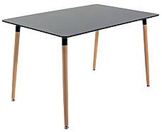 Стол Ксавьер 1200*800 (ноги дерево) (Черный), фото 2