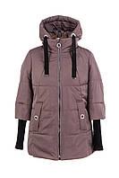 Женская весенняя куртка большого размера  48-58 темная пудра