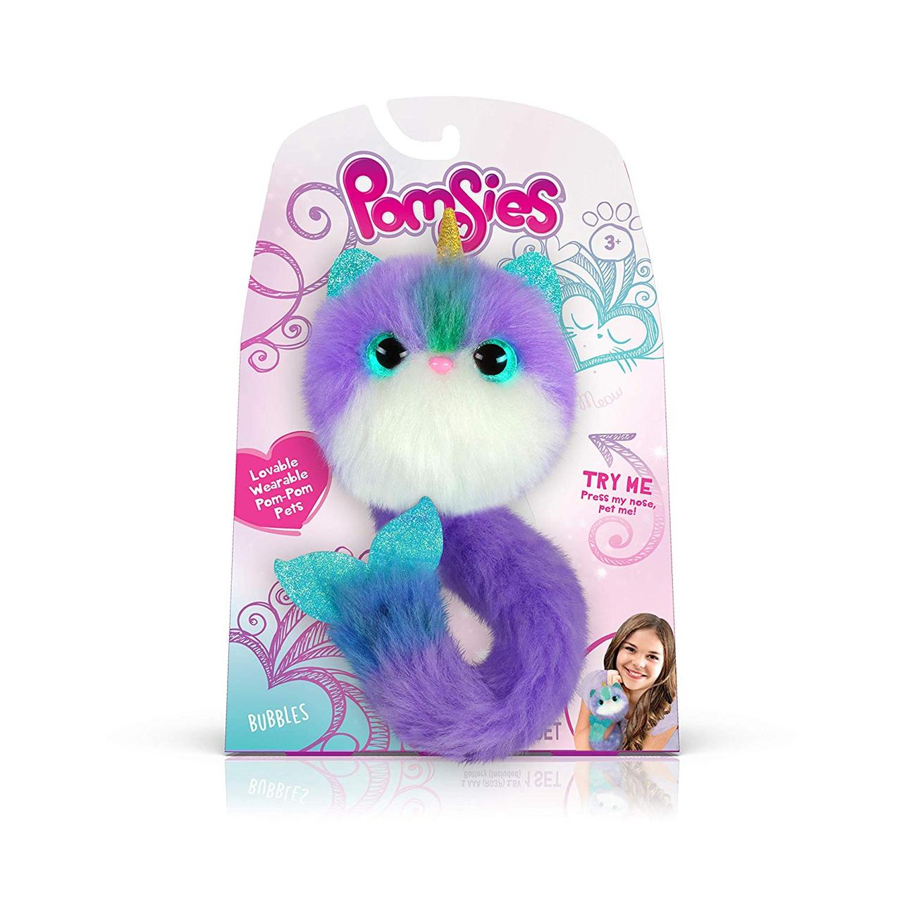 Интерактивная игрушка Нарвал Баббл Skyrocket Pomsies S4  Bubbles Оригинал 02246-B