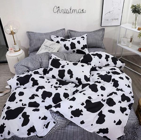 Семейный набор постельное белье черно белого цвета «Бязь 774»