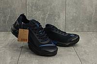 Мужские кроссовки текстильные весна/осень синие Aoka A 730 -3, фото 1