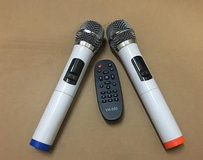 Аккумуляторная колонка с микрофонами QX-1521 500W (USB/Bluetooth/Пульт ДУ), фото 3