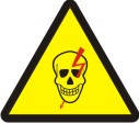 "Знак ""Обережно! Електрична напруга (череп)"""