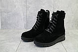Женские ботинки замшевые зимние черные Dali 7z, фото 4