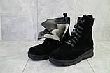 Женские ботинки замшевые зимние черные Dali 7z, фото 5