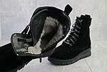 Женские ботинки замшевые зимние черные Dali 7z, фото 7