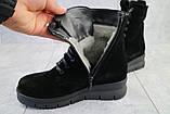Женские ботинки замшевые зимние черные Dali 7z, фото 8
