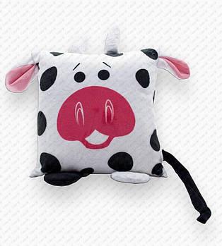"""Подушка-игрушка """"Корова 20201"""" плюшевая с местом для сублимации"""