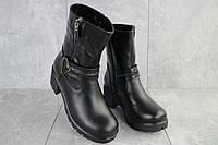 Женские ботинки кожаные зимние черные Emma Z -057, фото 1