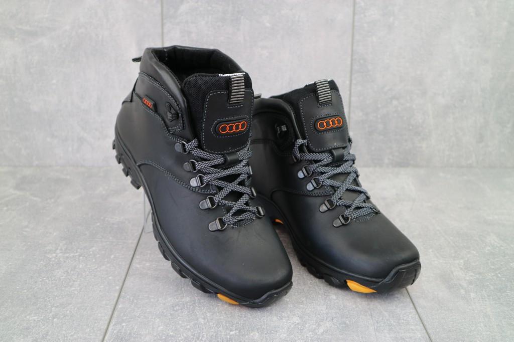 Мужские ботинки кожаные зимние черные Storm RZ- W