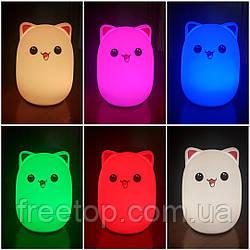 Ночник-лампа антистресс милый мини котик (Светильник)