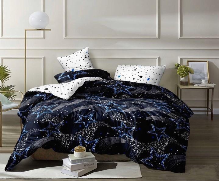 Двуспальное постельное белье бязь «Ночное синее небо»