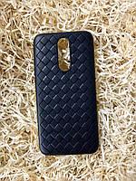 """Чехол """"Кожаное Плетение"""" для Xiaomi Redmi 8, Black"""